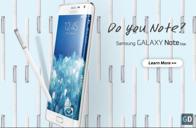 Samsung Galaxy Note Edge con pennino