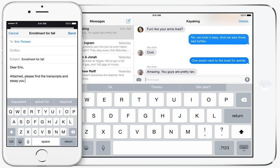 iOS 8 su iPhone 6