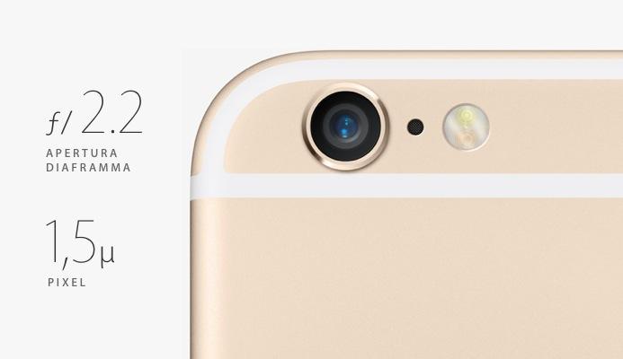 iPhone 6 Plus fotocamera posteriore
