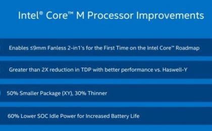 Intel Core M: caratteristiche e novità dei processori