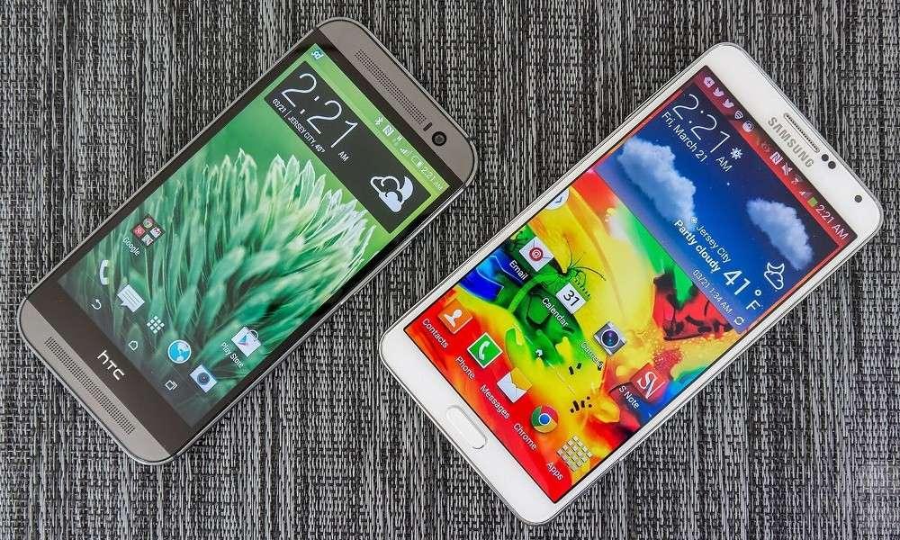 Samsung Galaxy Note 4 vs HTC One M8: sfida tra colossi [FOTO]