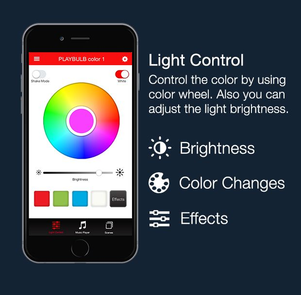 App smartphone lampadina Playbulb