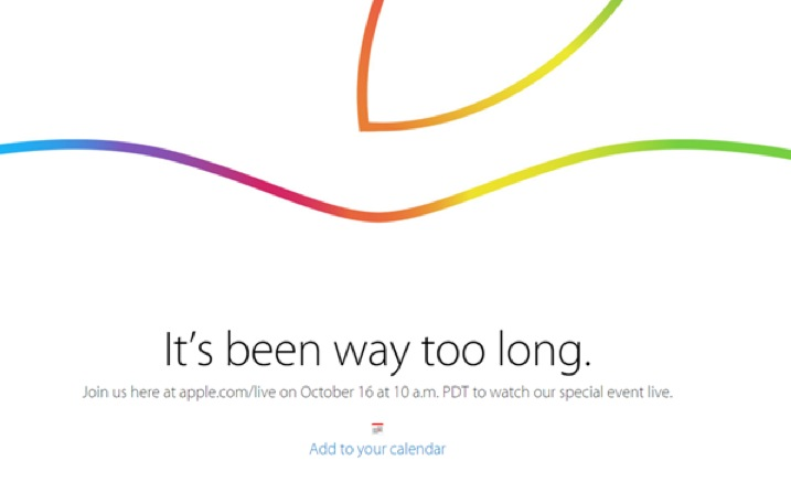 Apple: LIVE del Keynote di presentazione Ottobre 2014 dei nuovi iPad e Mac