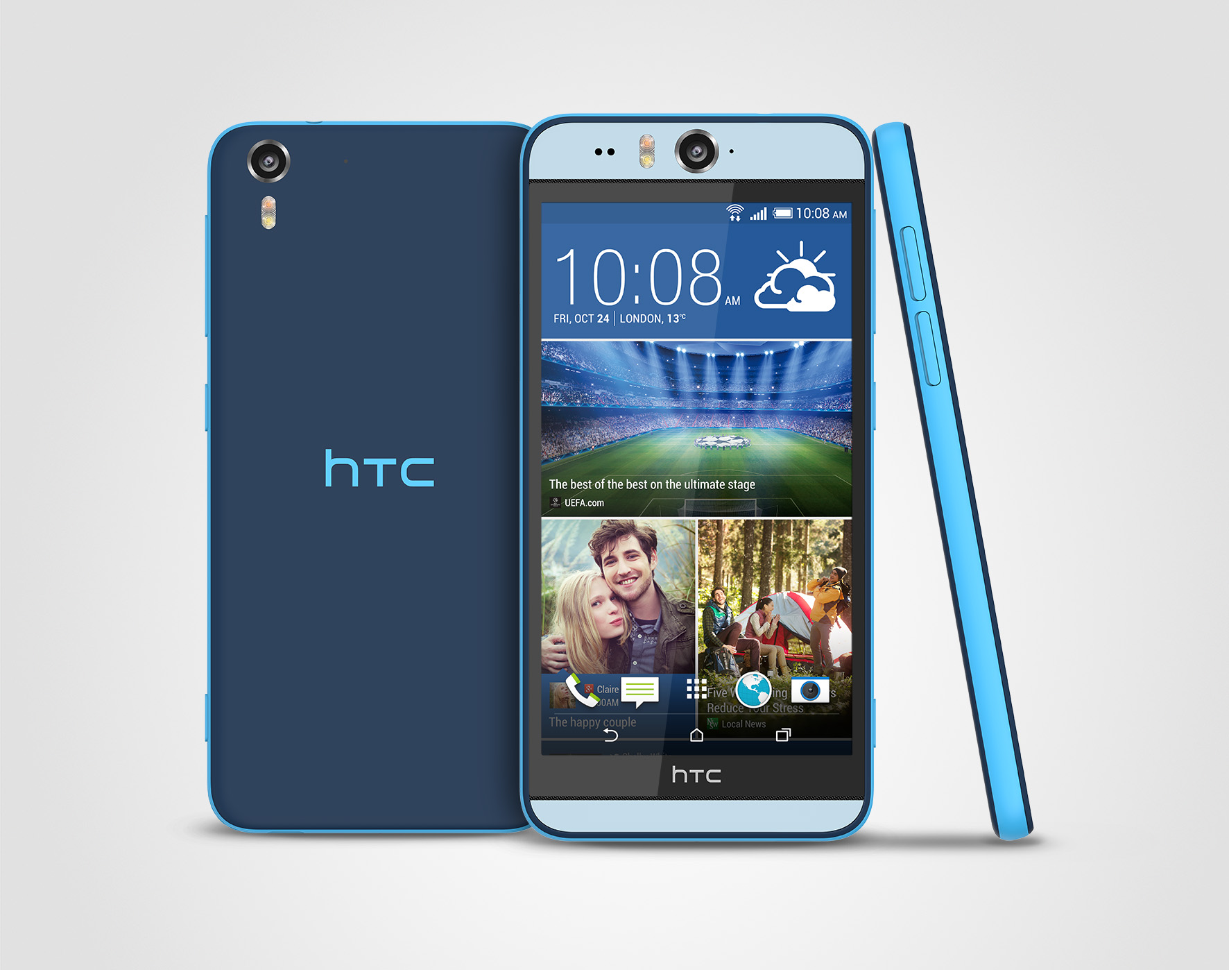 HTC Desire Eye Matt Blue Stack 300dpi