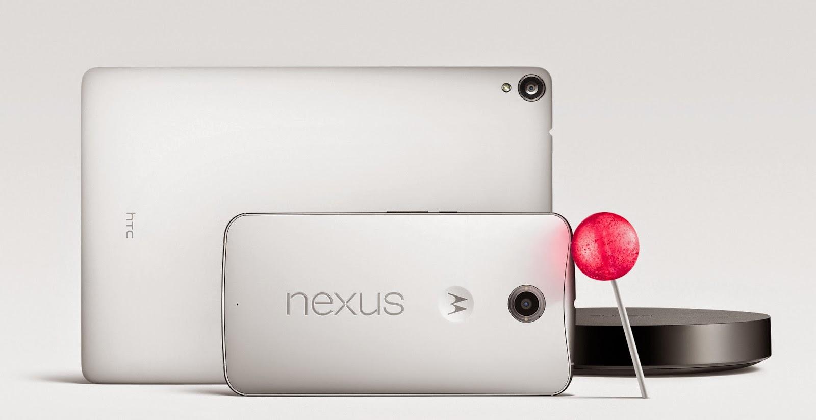 Nexus 9 e Nexus 6