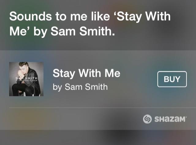 Riconoscimento musica di Siri