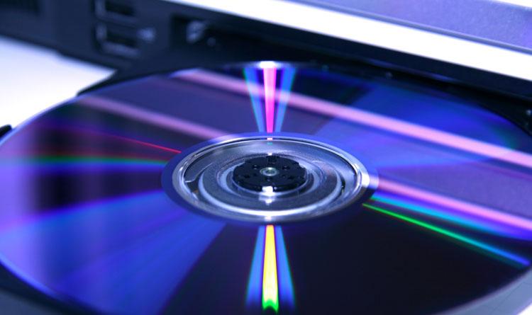 Scrittura dati DVD