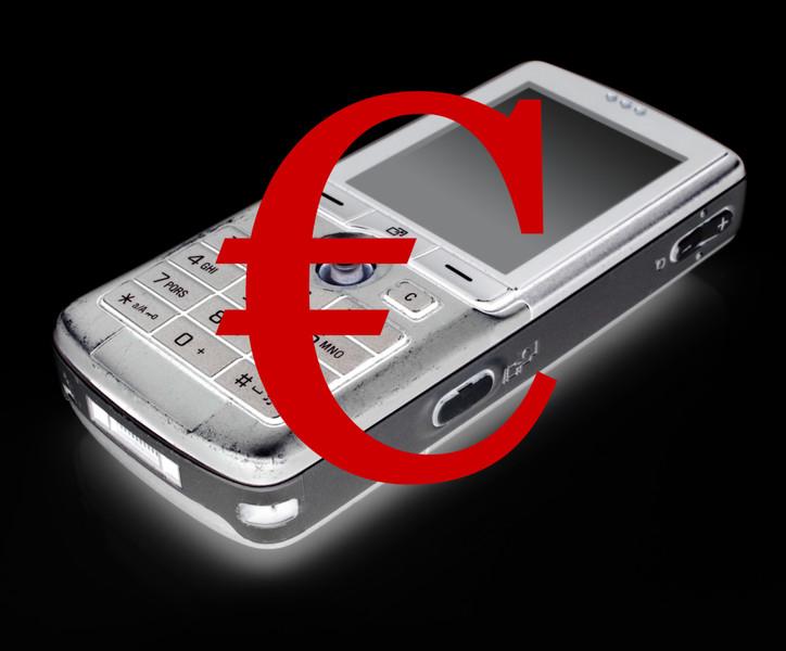 Telefono con simbolo euro