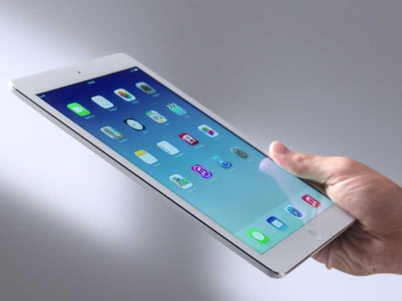 iPad Air display retina