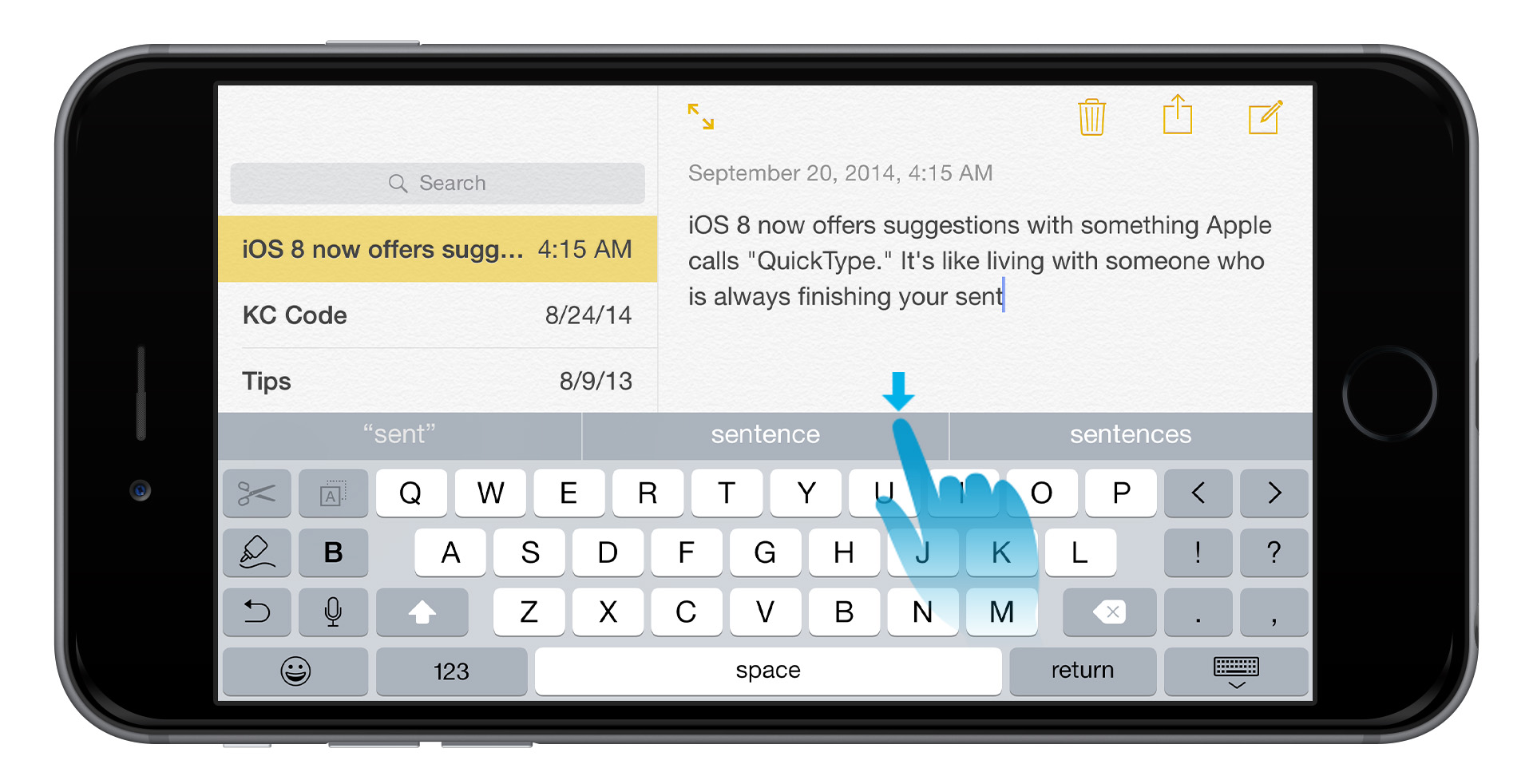 iphone 6 quicktype
