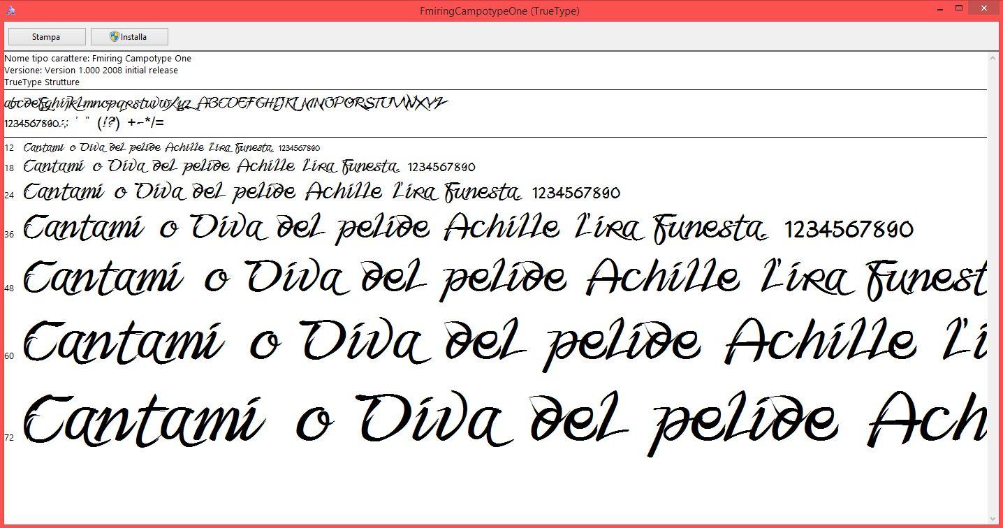 Come installare font su Windows 8