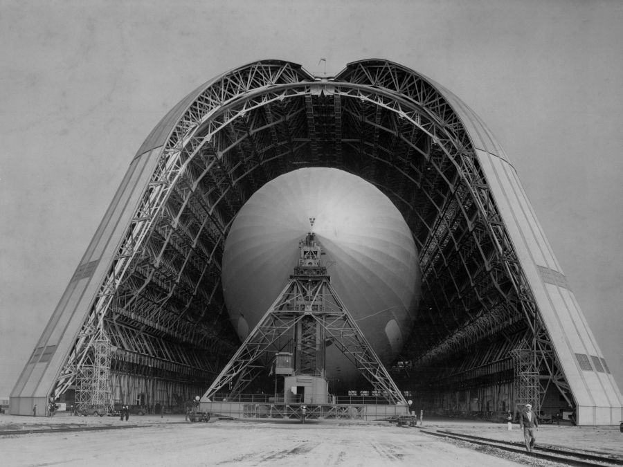 Foto storica dell'Hangar One