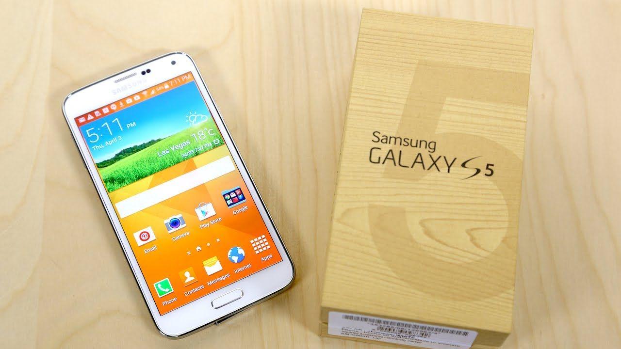 La scatola di acquisto di Galaxy S5