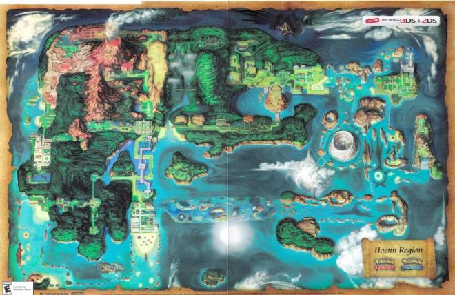 Mappa Hoenn Pokemon Rubino Omega Zaffiro Alpha