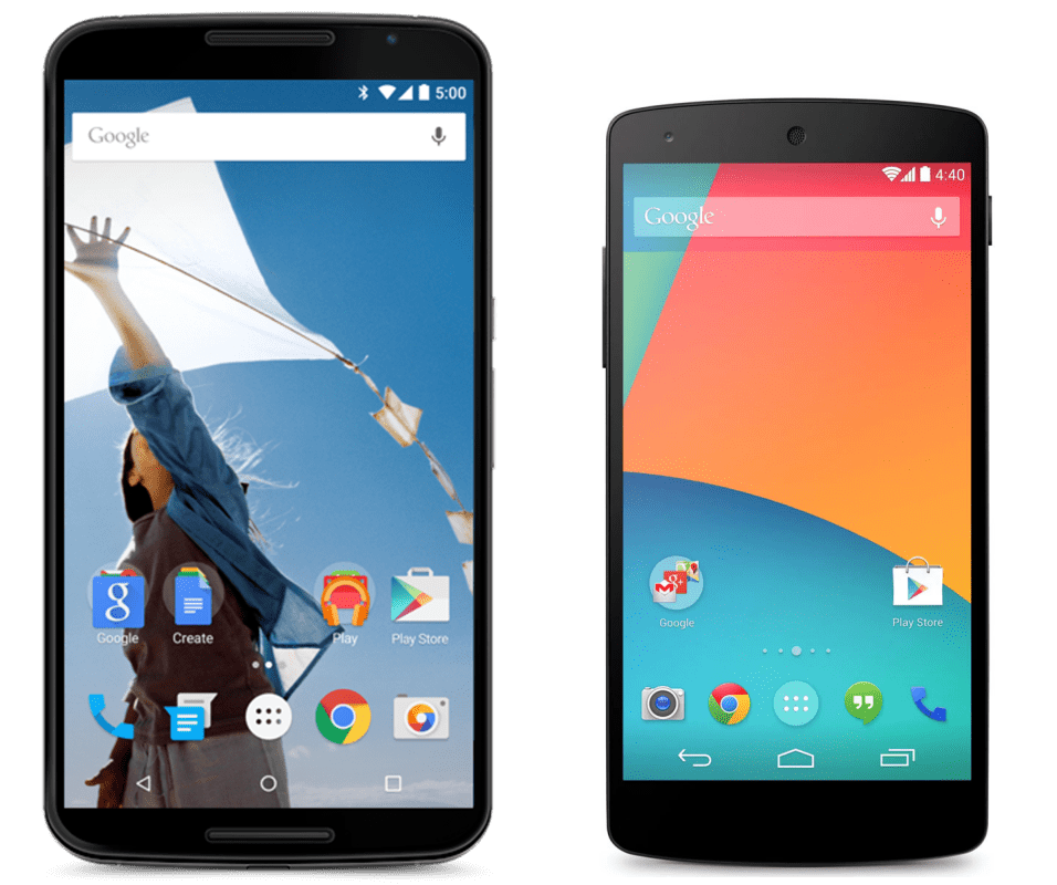 Nexus 5 batte Nexus 6, Android KitKat batte Lollipop