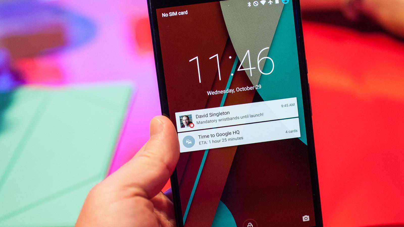 Nexus 6 interfaccia