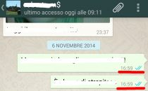 WhatsApp: doppia spunta blu significa messaggio letto