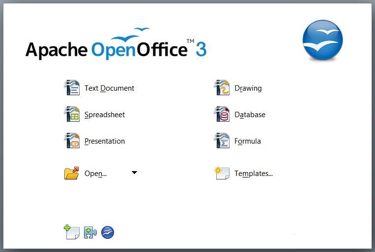 Apache Open Office elenco applicazioni