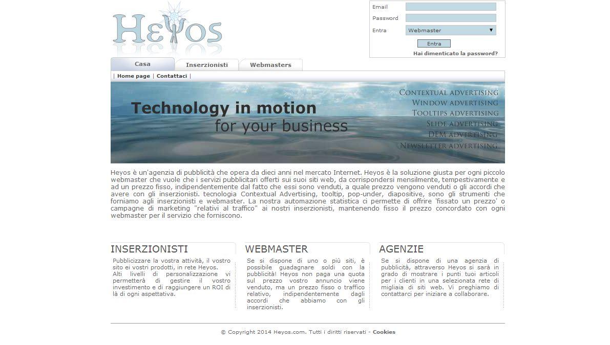 Heyos homepage