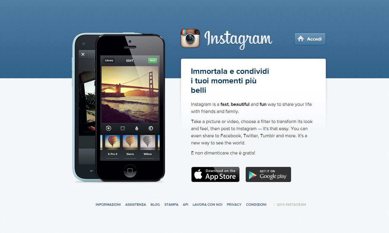 Instagram su pc login