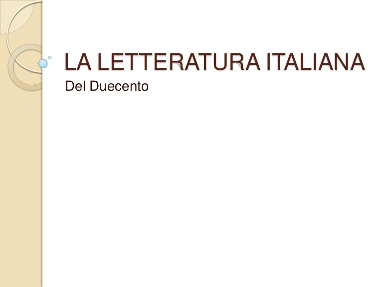 Letteratura Italiana.net