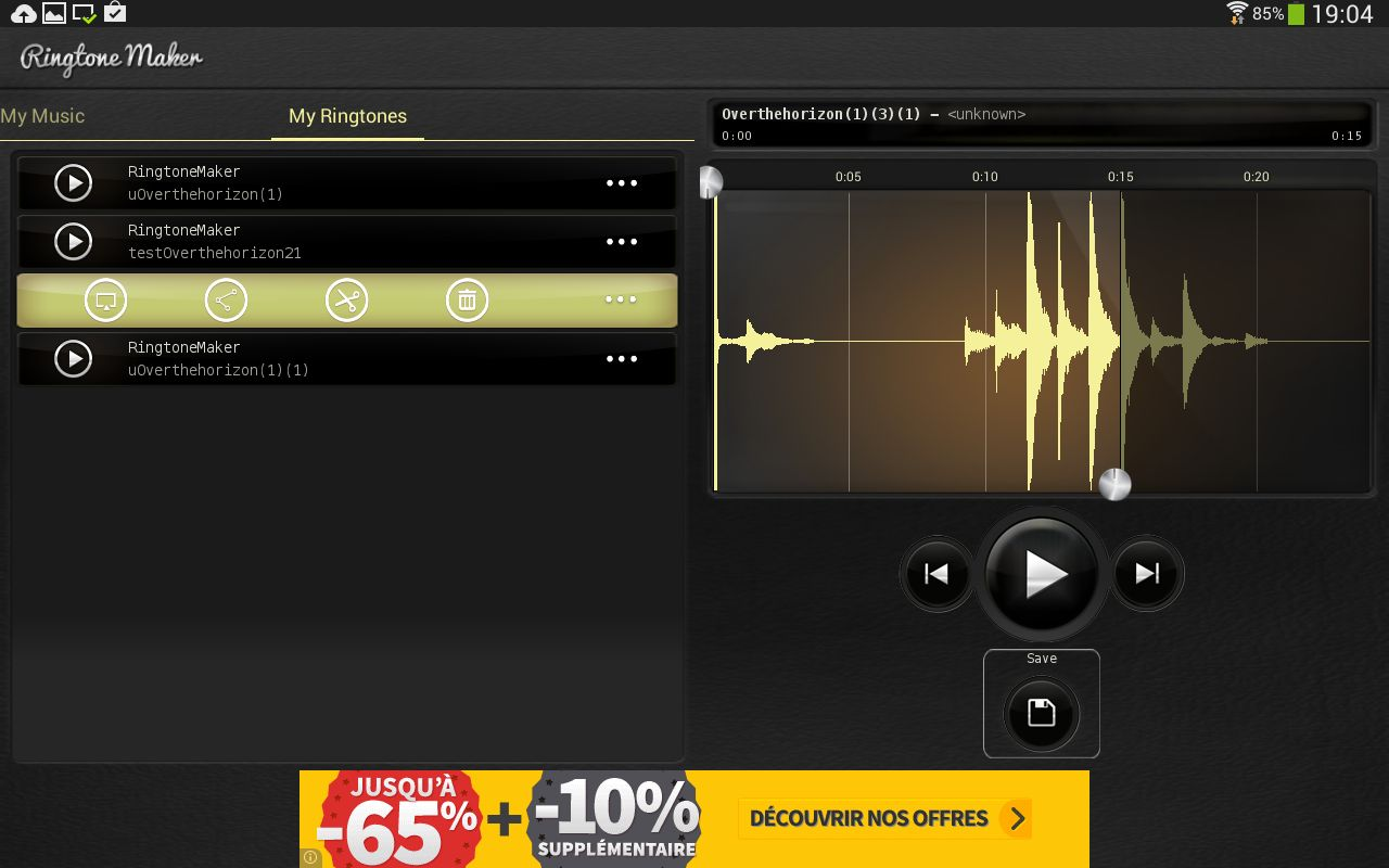MP3 come suoneria Android