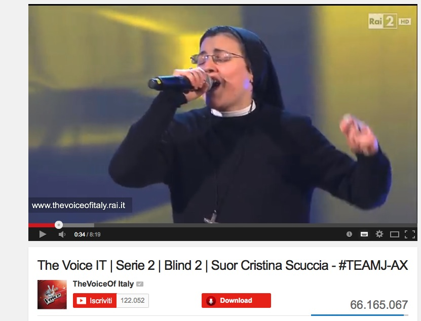 Suor Cristina Video Youtube