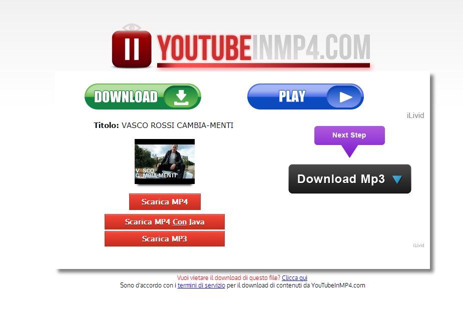 YouTubeInMP4 il servizio per creare formati MP4 dei video preferiti su YouTube