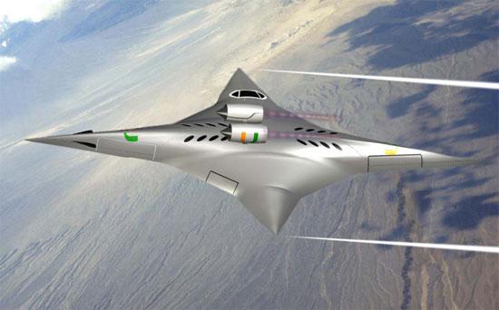 aereo supersonico nasa rotante