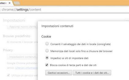 Come bloccare i cookie: consigli e trucchi