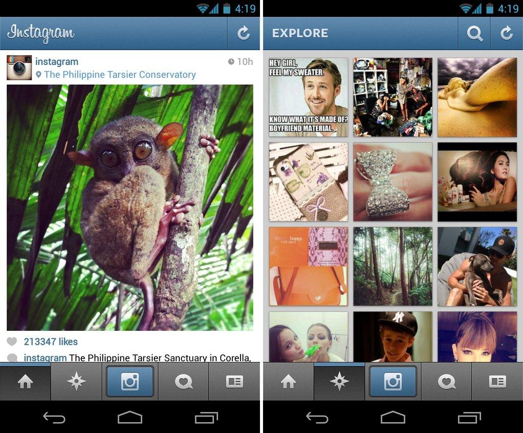 instagram esplora foto utenti