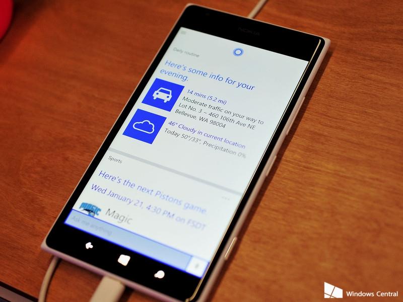 Cortana su Windows 10 per smartphone