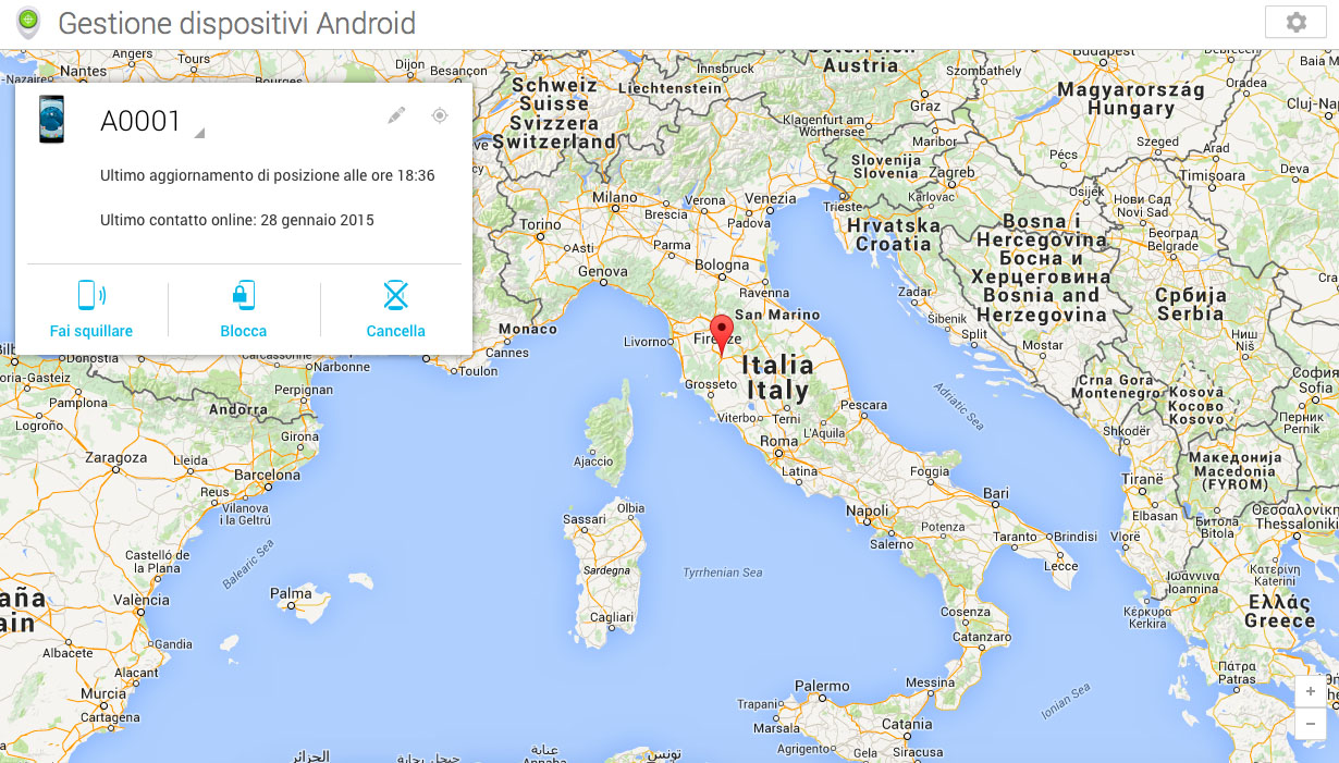 Gestione dispositivi Android