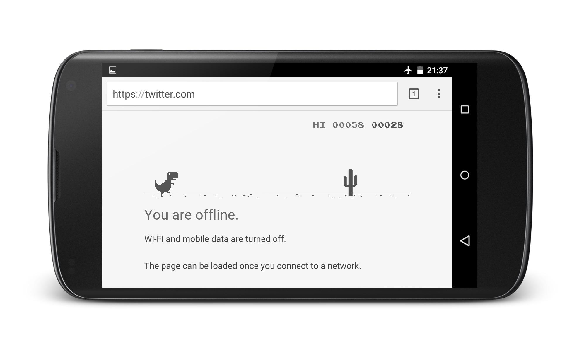 Gioco Chrome T Rex su Android