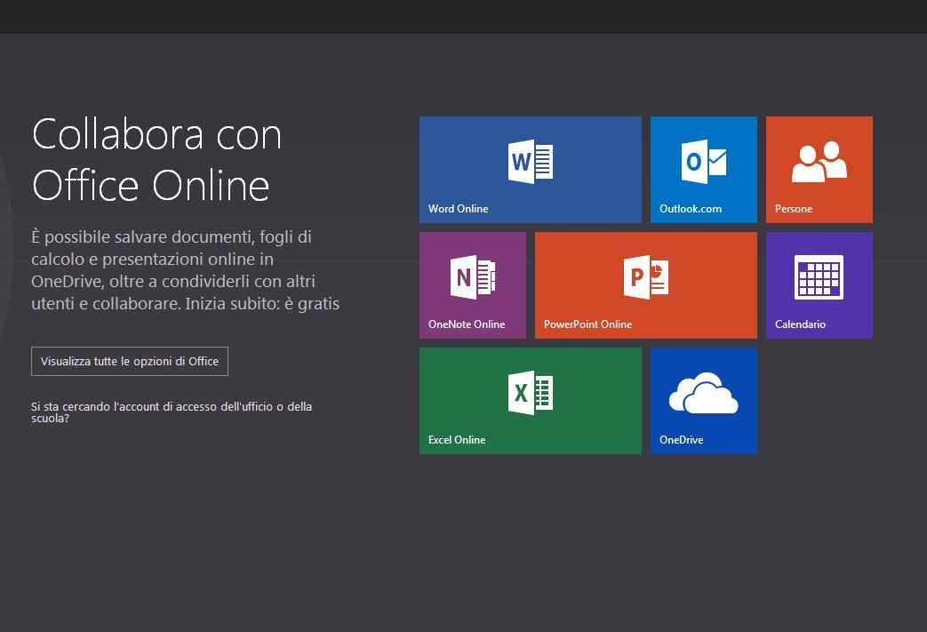 Office Live il sito Microsof che mette a disposizione PowerPoint online