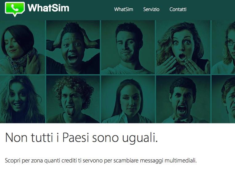 Prezzi WhatSim