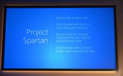 Project Spartan: Microsoft annuncia l'erede di Internet Explorer