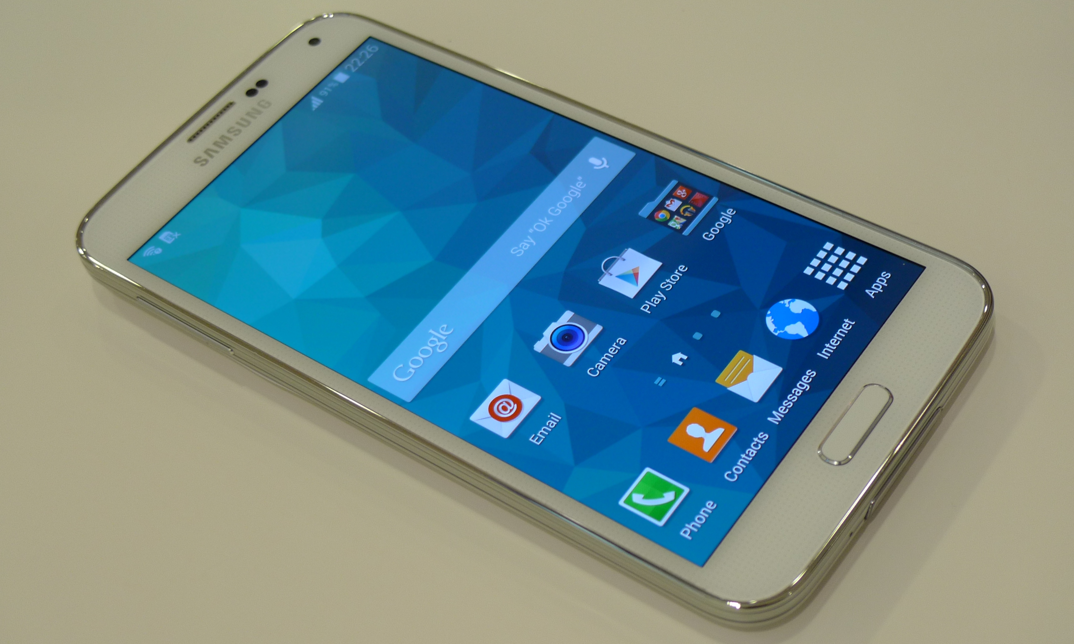 Samsung Galaxy S5 interfaccia