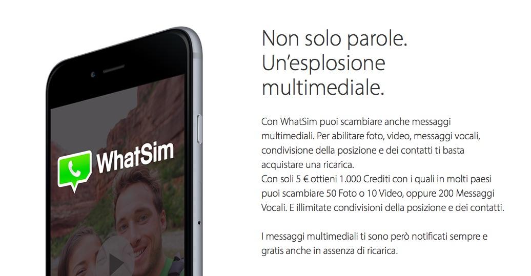 WhatSim su iPhone 6