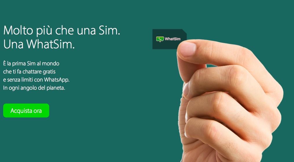 WhatSim, la SIM per usare WhatsApp in tutto il mondo