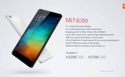 Xiaomi Mi Note Pro prezzo e scheda tecnica della belva in uscita