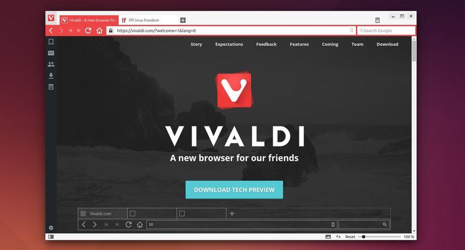 Vivaldi, il nuovo browser per navigare su internet