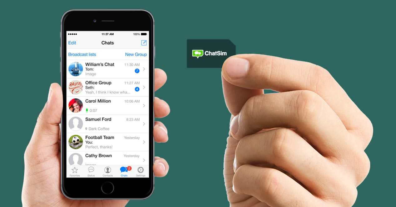 WhatSim diventa ChatSim: 10 euro all'anno per chattare