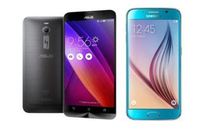 Asus Zenfone 2 vs Samsung Galaxy S6: confronto tra scheda e caratteristiche