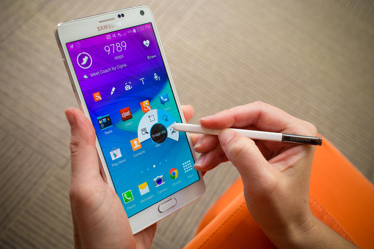 Galaxy Note 4 schermo
