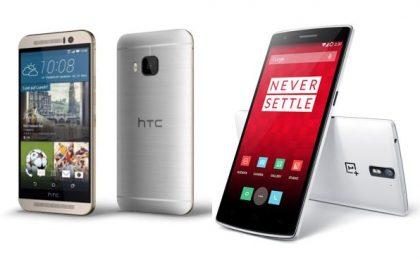 HTC One M9 vs OnePlus One: confronto tra scheda tecnica e prezzo