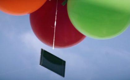 Sony Xperia Z4 Tablet è così leggero che galleggia nell'aria [VIDEO]