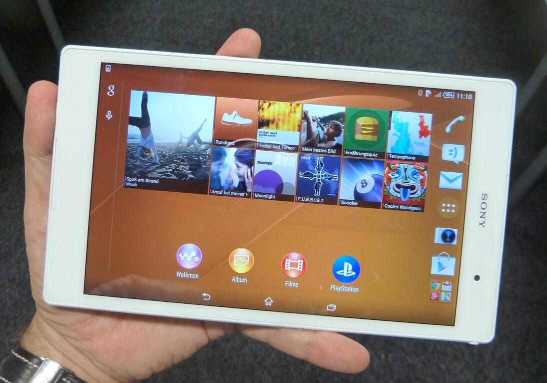Xperia Z3 Tablet Compact sistema operativo
