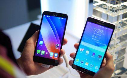 Zenphone 2 vs Samsung Galaxy Note 4: il confronto