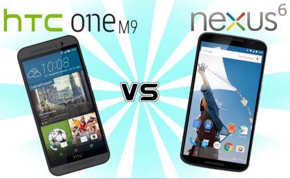 HTC One M9 vs Nexus 6: il confronto